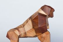 gorila en madera