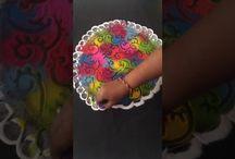 stylish multicolour rangoli