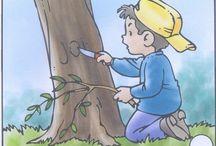 Helyes - helytelen viselkedés / Forrás: Uciteljica Goca i skolarci, El sonido de la hierba al crecer