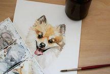Pet Paintings / watercolor pet portraits of your favorite furry friends!