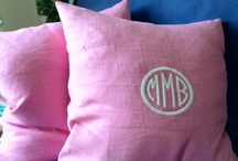 My Monogrammed Stuff  / I went to an Old Home Tour in a little seaside town in my state. My favorite house on the tour had lots of monograms, but done differently. I totally changed my mind ~ monograms done in a variety of ways, don't feel overdone!