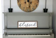Piano painted - Chalk Paint