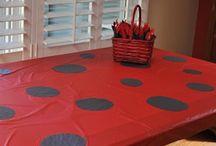 Ladybug / Ladybug themed birthday party ideas & cakes