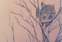 Treehouse _ Drawing / by kávé poll