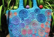 Needle felted bags