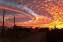 CAPRICHOS DE LA NATURALEZA / Nubes extrañas en el cielo de Tunez