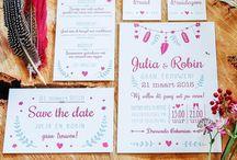 Letterpress Trouwkaarten - Wedding Invitations / Met INKT - Our collection