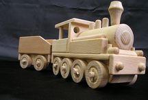 Dampflok Spielzeug aus Holz
