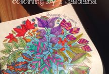Coloring makes me Happy / Coloring from the different books I collect / by Tessie Saldana