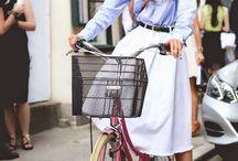 Bike fashion.
