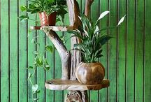 Wood Display Stands