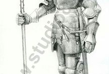 Comprehensive Overview on Arms and Armor in The 15th century / This overview aims to show what a soldier From The 15th century, from the Knight To The low class soldier, would have looked like and what equipment he was using whilst not beeing confusingly big.