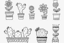 Doodles Cactus