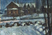Thorolf Holmboe 1866-1935 / Holmboe var en norsk maler med hovedvekt på landskapsmaleri fra Nord-Norge.