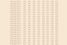 Ramadan 1437 H / Jadwal imsak
