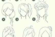 Drawing hair inspo