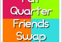 """Fat Quarter Friends Swap / Do you like working with Fat Quarters?  My blog has a monthly Fabric Swap called Fat Quarter Friends.  Each month I will """"PIN"""" a picture of the Fat Quarters that each participant receives.    http://koolbeenz-blog.blogspot.com/search/label/Fat%20Quarter%20Friends%20Swap"""