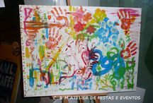 ARTS AND PAINT PARTY / Table and event design - umdiadefesta ; Sweets and other food - Bolos e Bolinhos Atelier