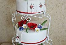 tort w stylu ludowym