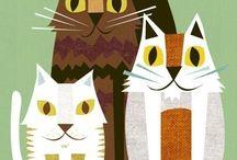 Cat Art / Beautiful image of Cats in Art