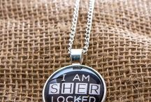 Sherlock Gifts / Sherlock Holmes necklaces, earrings, purses, notebooks, greeting cards, compact mirrors and more!