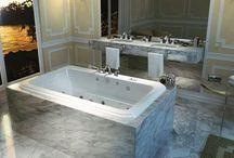 Weinlese-schauende Badewanne mit gebogenem Entwurf - römische Badewanne durch MAAX Sammlung