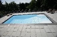 "Niagara Model by San Juan Fiberglass Pools / Niagara  Width 15' 11"" / 4.85M Length 33' 10"" / 10.31M Depth 7' 10"" / 2.39M Area 497ft2 / 46.2M2 Volume 17,500G / 66,200L"
