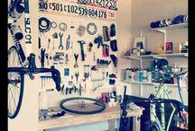 Bicycle Workspaces / Workshops, garage space, whatever for bicycle stuff