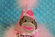 Gwyneth's 1st birthday / Sock monkey theme