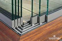 Glass sliding system