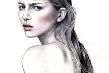 kvinnoporträtt