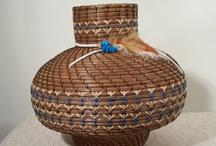 Pine Needle Vases / Original, hand-crafted pine needle vase art
