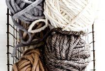 Fabric + wool