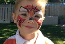 Face painting for boys / We do not forget the boys.Here are some face painting ideas for them!