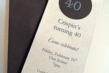 DIY 40th Birthday Party Ideas / Our do-it-yourself 40th birthday party ideas include examples of DIY invitations, fun ideas for themes, and other fun creative ways to get your friends together. Birthday party ideas for adults are our specialty on this do-it-yourself pinboard.