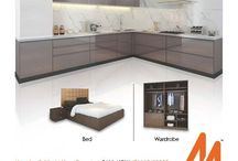 Metrika - Modular Kitchens, Beds & Wardrobes / Metrika - Futuristic Modular Solutions is becoming the fastest growing & most preferred brand in area of Modern Modular Kitchens, Beds & Wardrobes, offering wide range of Modular Solutions for the Indian Homemakers.