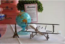 Festas com temas de viagens / Idéias de decoração para festas inspiradas em viagens