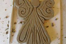 ангелочки из соленого теста, полимерной глины