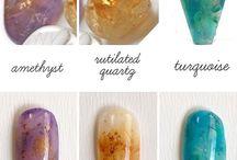 Эффект камня на ногтях!
