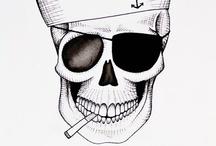 Sailor Candy Skull Tattoo
