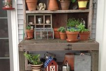 Potting benches & plant stands / by Heidi Easthagen-Dolan