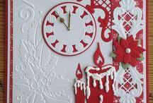 Kerstkaart met klok