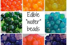 Water beads - a fun preschool sensory experience / A collection of posts on water beads as sensory items.