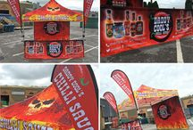 Printed and Branded Pop Up Gazebos / We design Printed and Branded Pop Up Gazebos and Instant Shelters for market traders, street food vendors and brands (big and small!)