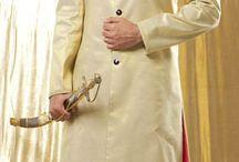 Indian Wedding Groom Wear / Sherwani, achkan, kurta and dhotis for South Asian grooms.