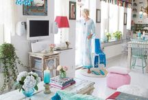 interiors...white with punches of color / by Sara Rivka Dahan