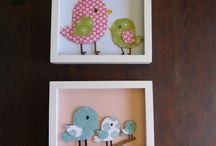 Cuadros y decoraciones para niñas