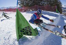 Ski and mountain