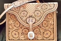 handbags - leather carving