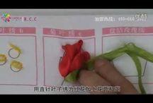 Mašlové květiny / ribbon